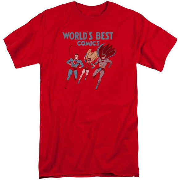Jla Worlds Best Short Sleeve Adult Tall T-Shirt