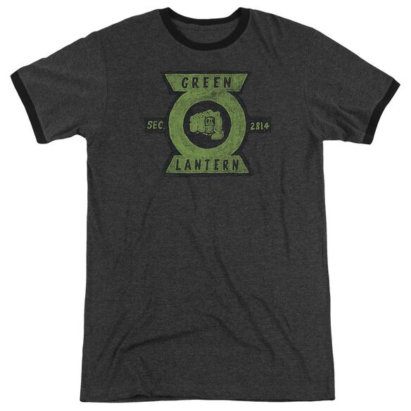 Green Lantern Section Adult Heather Ringer Charcoal
