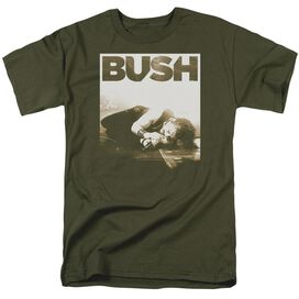 Bush Floored Short Sleeve Adult Military Green T-Shirt