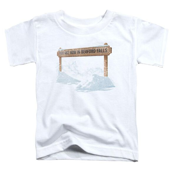 Its A Wonderful Life Bedford Falls Short Sleeve Toddler Tee White T-Shirt