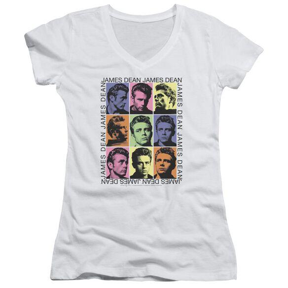 Dean James Color Block Junior V Neck T-Shirt