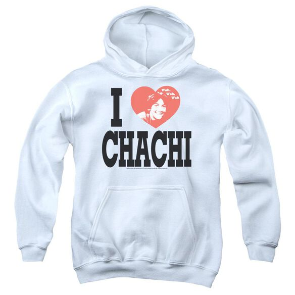 Happy Days I Heart Chachi-youth Pull-over Hoodie - White