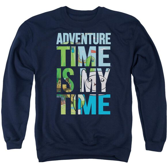 Adventure Time My Time Adult Crewneck Sweatshirt