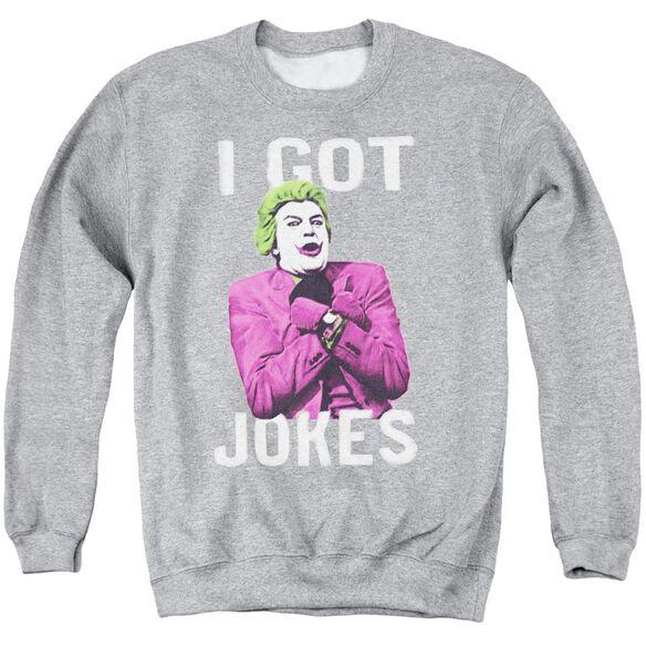 Batman Classic Tv Got Jokes Adult Crewneck Sweatshirt Athletic