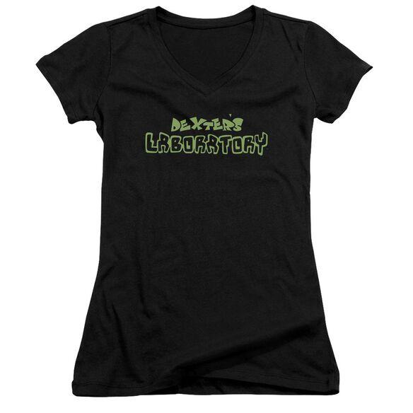 Dexter's Laboratory Dexter's Logo Junior V Neck T-Shirt