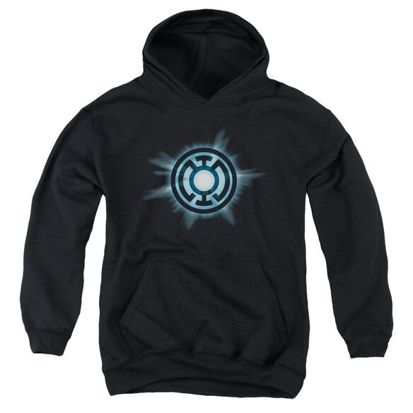 Green Lantern Blue Glow Youth Pull Over Hoodie