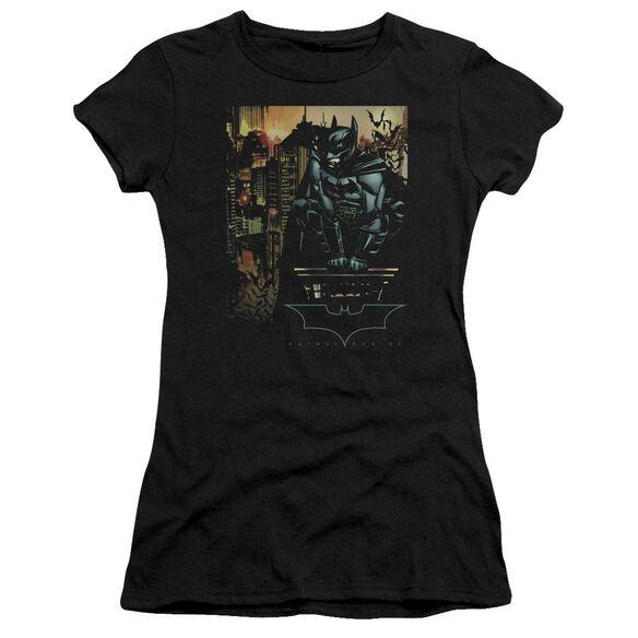 Batman Begins Waiting Short Sleeve Junior Sheer T-Shirt