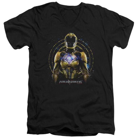 Power Rangers Yellow Ranger Short Sleeve Adult V Neck T-Shirt