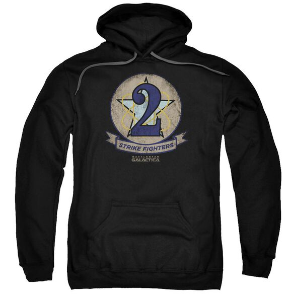 Bsg Strike Fighters Badge Adult Pull Over Hoodie Black