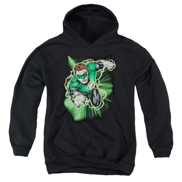 Jla Green Lantern Energy Youth Pull Over Hoodie
