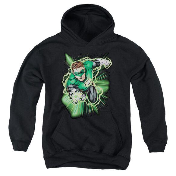 Jla Green Lantern Energy Youth Pull Over Hoodie