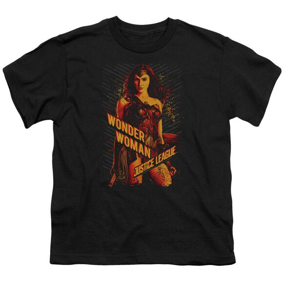 Justice League Movie Wonder Woman Short Sleeve Youth T-Shirt