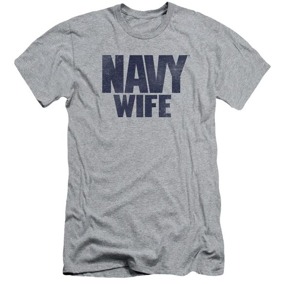 Navy Wife Short Sleeve Adult Athletic T-Shirt