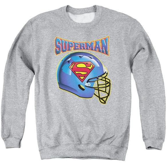 Superman Helmet Adult Crewneck Sweatshirt Athletic