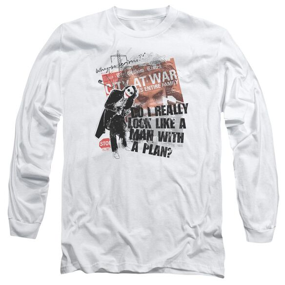 Dark Knight Spontaneous Long Sleeve Adult T-Shirt