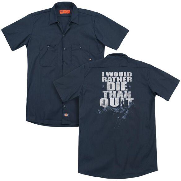 Six No Quitting (Back Print) Adult Work Shirt