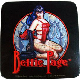Bettie Page Coaster Set