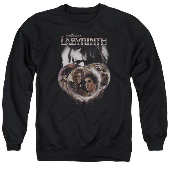 Labyrinth Globes Adult Crewneck Sweatshirt
