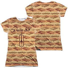 Oldsmobile Delta 88 (Front Back Print) Short Sleeve Junior Poly Crew T-Shirt