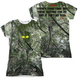 Predator Yellow Eyes (Front Back Print) Short Sleeve Junior Poly Crew T-Shirt