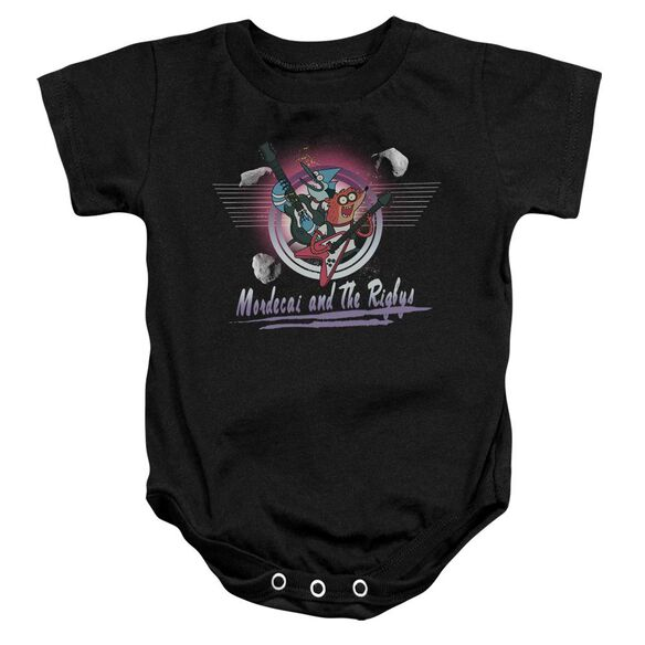 The Regular Show Mordecai & The Rigbys Infant Snapsuit Black