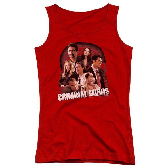 Criminal Minds Brain Trust - Juniors Tank Top - Red