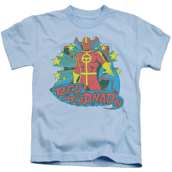 Dc Red Tornado Stars Short Sleeve Juvenile Light Blue T-Shirt