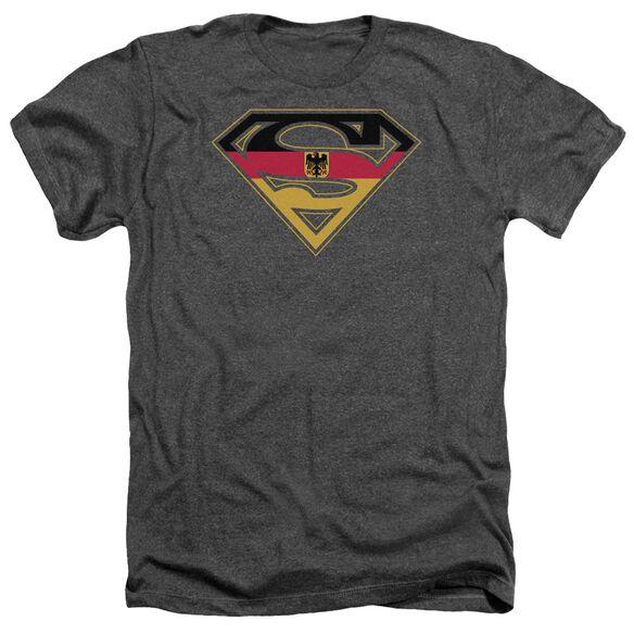 Superman German Shield - Adult Heather - Charcoal