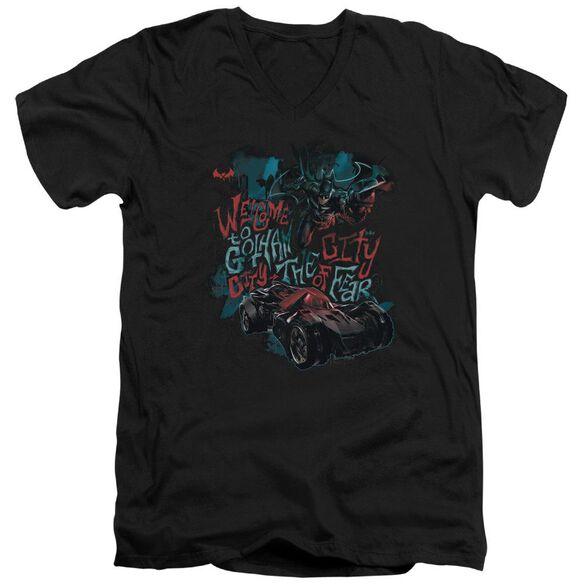 Batman Arkham Knight City Of Fear Short Sleeve Adult V Neck T-Shirt