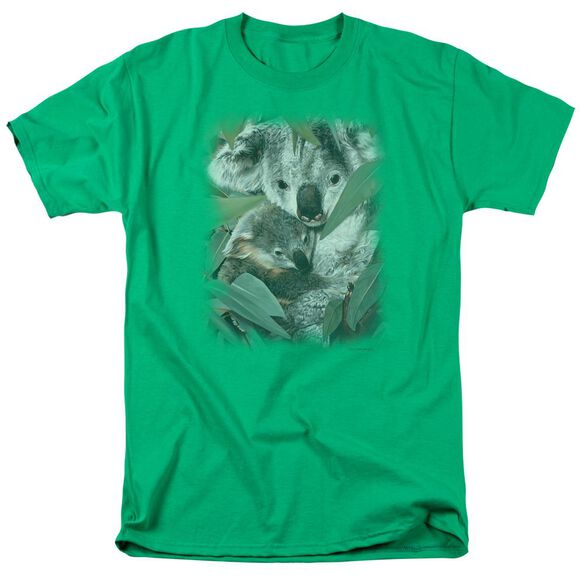 Wildlife Motherhood Short Sleeve Adult Kelly Green T-Shirt
