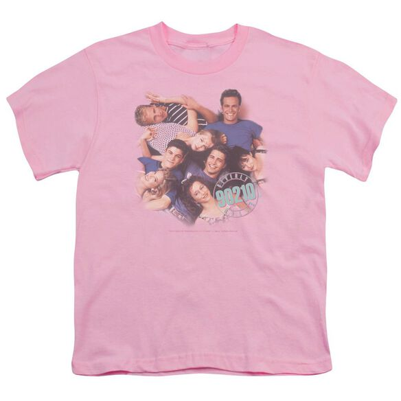 90210 GANG IN LOGO - S/S YOUTH 18/1 - PINK T-Shirt
