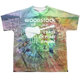 Woodstock On The Hill Short Sleeve Youth Poly Crew T-Shirt