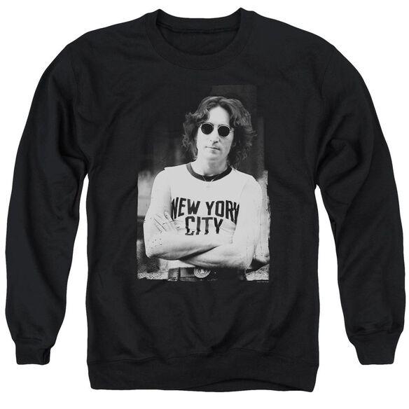 John Lennon New York Adult Crewneck Sweatshirt