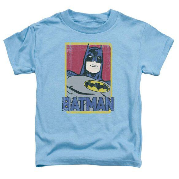 Batman Primary Short Sleeve Toddler Tee Carolina Blue Sm T-Shirt