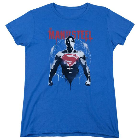 Batman V Superman Super Spray Short Sleeve Womens Tee Royal T-Shirt