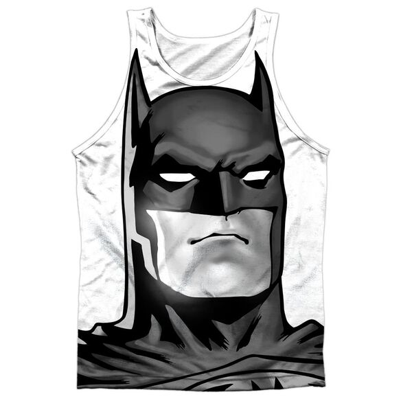 Batman Bw Bat Head Adult 100% Poly Tank Top