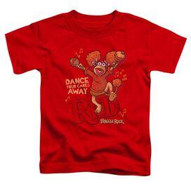 Fraggle Rock Dance Short Sleeve Toddler Tee Red T-Shirt