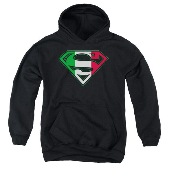 Superman Italian Shield Youth Pull Over Hoodie