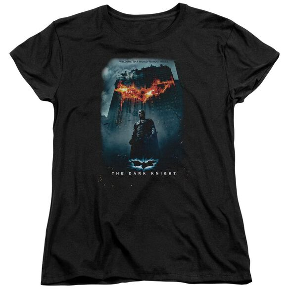 Dark Knight Without Rules Poster Short Sleeve Womens Tee Black T-Shirt