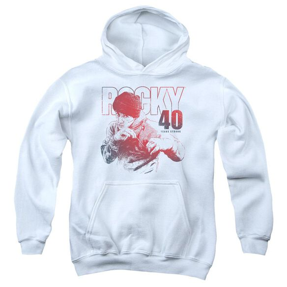 Rocky 40 Years Strong Youth Pull Over Hoodie