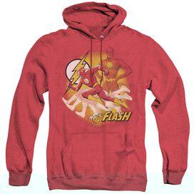 Jla Lightning Fast - Adult Heather Hoodie - Red