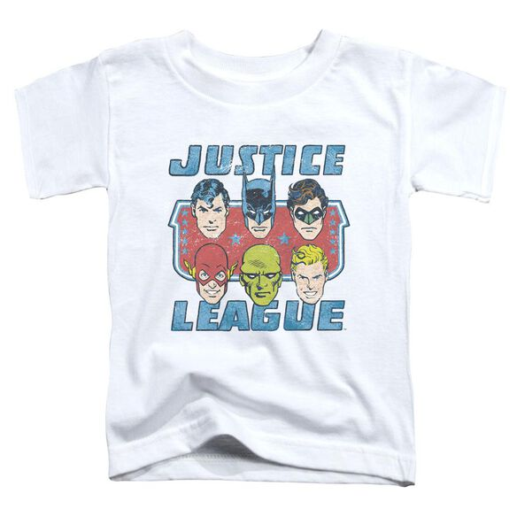 Dc Faces Of Justice Short Sleeve Toddler Tee White T-Shirt