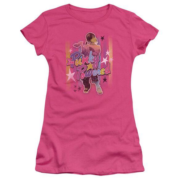 Punky Brewster Punky Powered Short Sleeve Junior Sheer Hot T-Shirt
