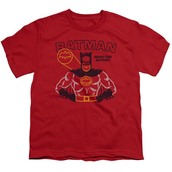 Batman Ready For Action Short Sleeve Youth T-Shirt