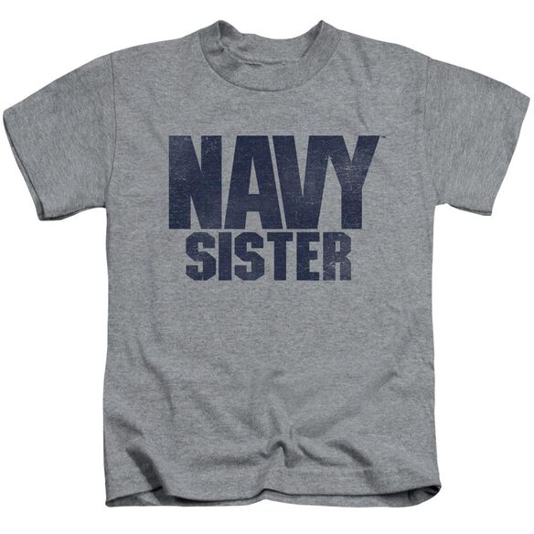 Navy Sister Short Sleeve Juvenile Athletic T-Shirt