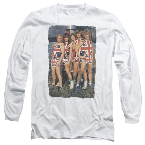 Def Leppard Flag Photo Long Sleeve Adult T-Shirt