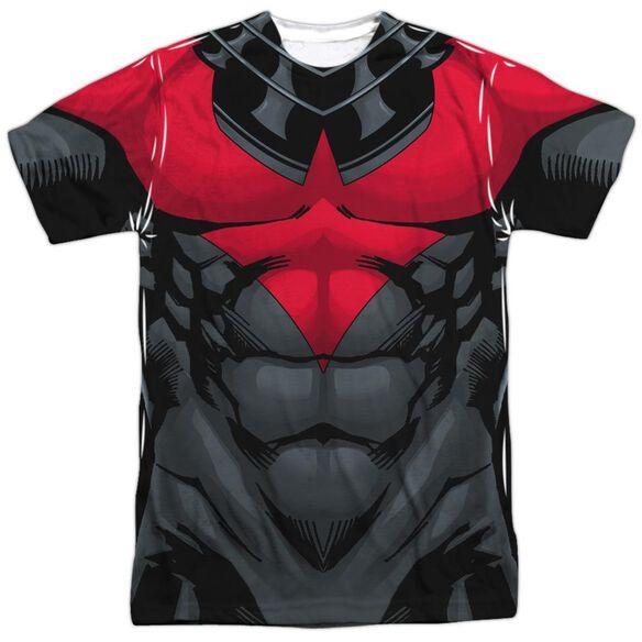 Batman Nightwing Red Uniform Short Sleeve Adult Poly Crew T-Shirt