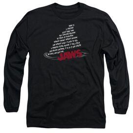 JAWS DORSAL TEXT - L/S ADULT 18/1 - BLACK T-Shirt