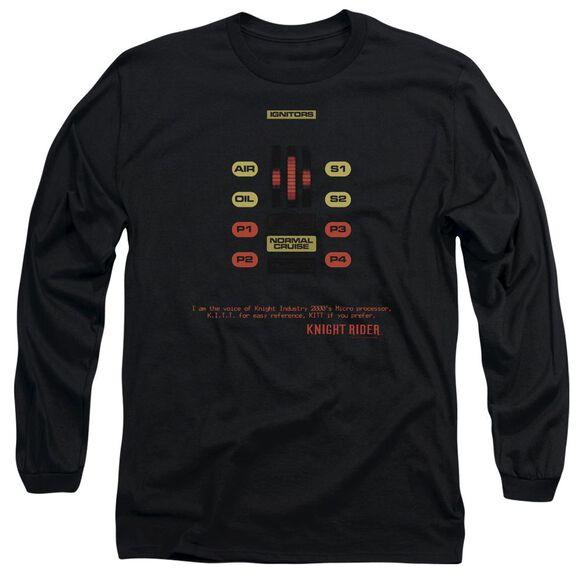 Knight Rider Kitt Consol Long Sleeve Adult T-Shirt
