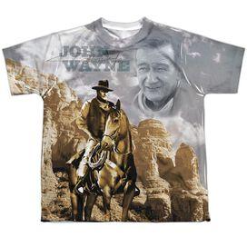 John Wayne Ride Em Cowboy Short Sleeve Youth Poly Crew T-Shirt